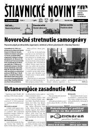Štiavnické noviny 1 - Banská Štiavnica