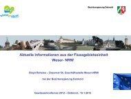 Vortrag Birgit Rehsies: Aktuelle Informationen - Weser NRW