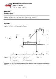 Übungsblatt7 - am Institut für Baustatik