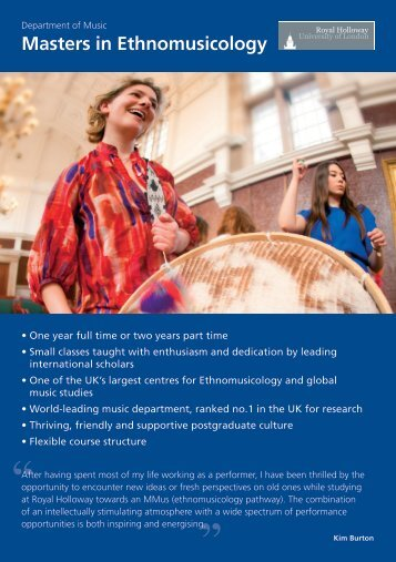 Music: Ethnomusicology - Royal Holloway, University of London