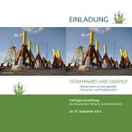 Flyer und Einladung - Nautischer Verein zu Bremerhaven eV