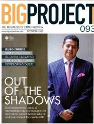Big Project Magazine Interview with Raouf Ghali - Hill International