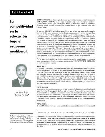 La competitividad en la educación bajo el esquema neoliberal.