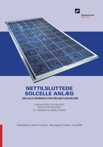 NETTILSLUTTEDE SOLCELLE ANLÆG - RES-e-Regions