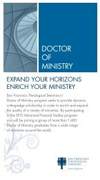 DOCTOR OF MINISTRY - San Francisco Theological Seminary