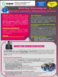 About the Course Facilitator - Institute of Cost and Management ...