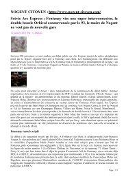 Soirée Arc Express : Fontenay vise une super ... - amutc
