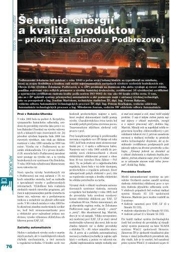 Šetrenie energií a kvalita produktov - ATP Journal