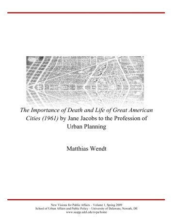 The Importance of Death and Life of Great American Cities (1961) by ...