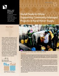 Social Funds in Africa: Supporting Community-Managed ... - WSP