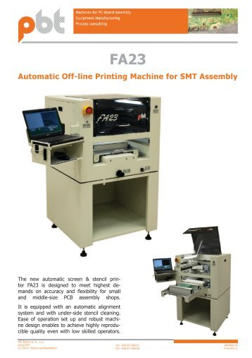 Automatic Off-line Printing Machine for SMT Assembly FA23