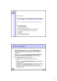 Grundlagen des Maschinenwesens - Lehrstuhl für Medizintechnik