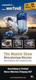 Flyer der Mineralientage München 2012 - Radio Arabella