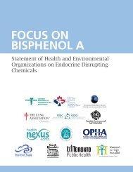 Focus on Bisphenol A - Pollution Probe