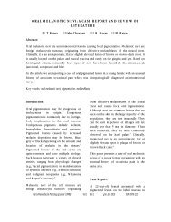 oral melanotic nevi: a case report and review of literature - A4add