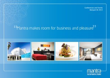 Conferences and Events Banquet Kit 2013 - Mantra