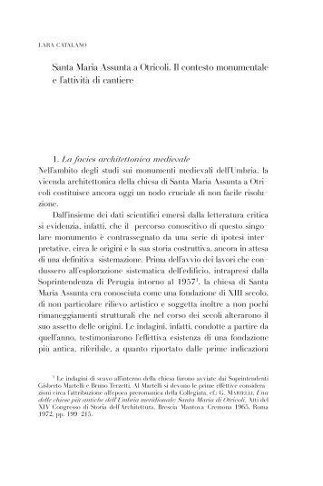 Santa Maria Assunta a Otricoli. Il contesto monumentale e l'attività di ...
