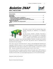 Boletim INAF - Instituto Paulo Montenegro