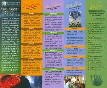 DEINVESTIGACION. - Pontificia Universidad Católica del Ecuador