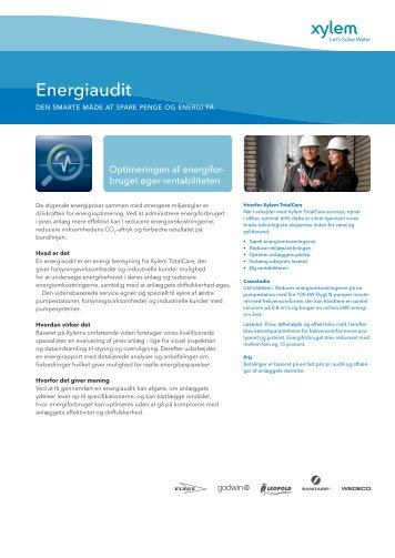 Download Energiaudit flyer - Water Solutions