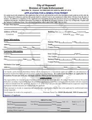 Demolition Permit Application - the City of Hopewell Virginia