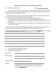 Public Records Request - Twin Falls County