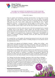 MAYORS STATEMENT ON RESILIENT CITIES FOR THE ... - unisdr