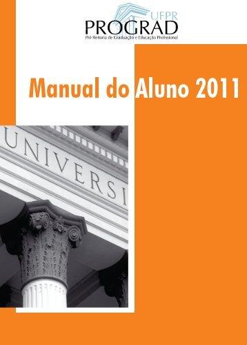 manual do aluno 2011 - versão 24-01 - UFPR Litoral - Universidade ...