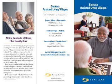 Download a brochure on Sentara Villages Norfolk ... - Sentara.com