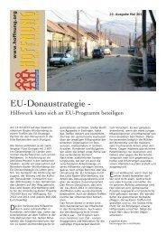 EU-Donaustrategie - - bei Hoffnung für eine neue Generation eV