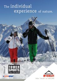 The individual experience of nature. - Tower Sports Rapperswil