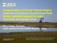 potential impacts to water - USGS Brine Contamination of Prairie ...