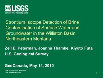 Use of Strontium Isotopes to Detect Produced-Water Contamination ...
