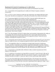 Regolamento del contratto di commissione per la ... - CaputMundi