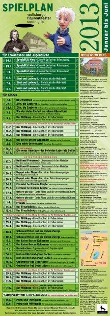 Spielplan Januar bis Juni 2013 (Download PDF-Datei)
