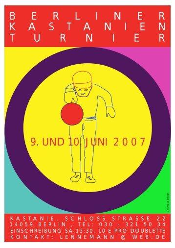 9. und 10. juni 2 0 0 7 berlinerkastanienturn ier - Berlinboule