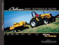 SMALL RECTANGULAR BALERS - Challenger