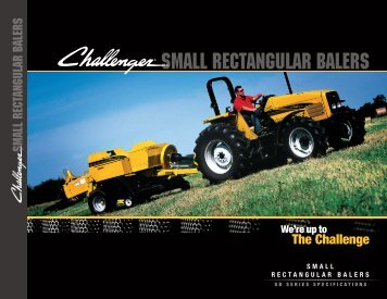 SMALL RECTANGULAR BALERS - Challenger