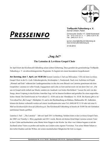 The Latonius & Leviticus Gospel Choir - Treffpunkt Falkenberg