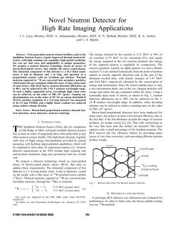 Novel neutron detector for high rate imaging applications - Nuclear ...