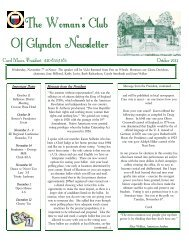 October 2012 (PDF) - GFWC Maryland Federation of Women's Clubs