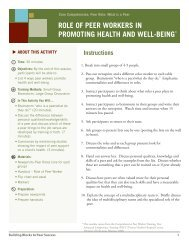 role of peer workers in promoting health and well-being