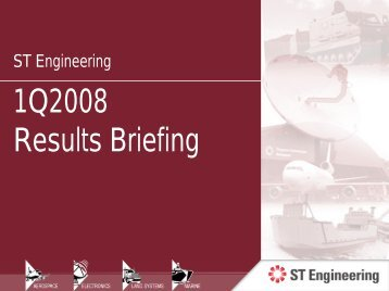 Presentation Slides - Singapore Technologies Engineering