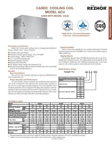 CASED COOLING COIL MODEL ACU - Agencespl.com
