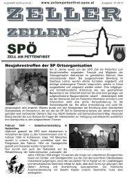 Neujahrestreffen der SP Ortsorganisation - SPÖ Zell am Pettenfirst