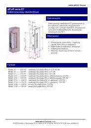 Elektrozaczepy E7