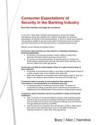 Consumer Expectations of Security in the Banking ... - Onstream Media