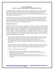 City Of Modesto Policy Against Harassment And Discrimination (rev ...