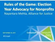 Election Year Advocacy for Nonprofits - CompassPoint Nonprofit ...