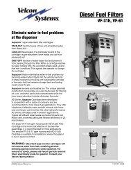 Diesel Fuel Filters - Velcon Filters